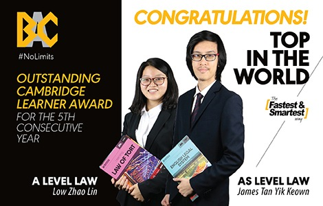 BAC's A-Level Students Receive Top in the World Awards for 5th Consecutive Year!